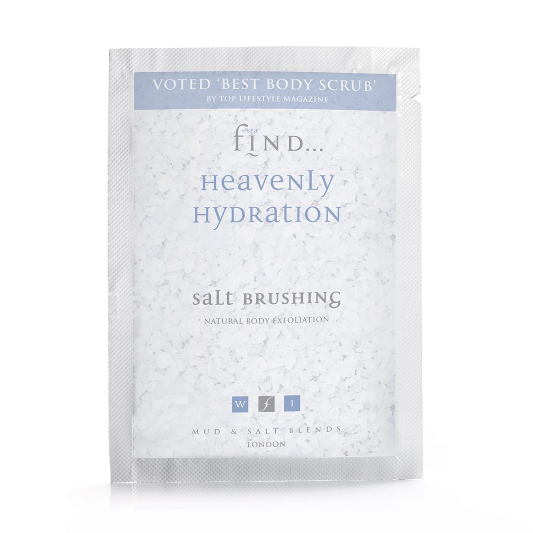 SPA FIND HEAVENLY HYDRATION SALT BRUSHING SACHET 50g